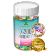 x200 Strength - Elite Gummies - Hemp Infused Bear Gummies