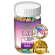 x200 Strength - Elite Gummies - Hemp Infused Poppers Gummies