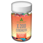 x200 Strength - Elite Gummies - Hemp Infused Worm Gummies