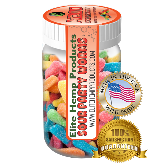 Elite Hemp Gummies - Hemp Infused Worm Gummies x200 Strength (Classic)