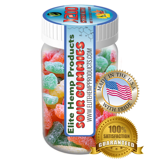 Elite Hemp Gummies - Hemp Infused Sour Gummy x200 Strength (Classic)