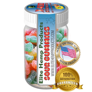Elite Gummies - Hemp Infused Sour Gummy x400 Strength (Classic)