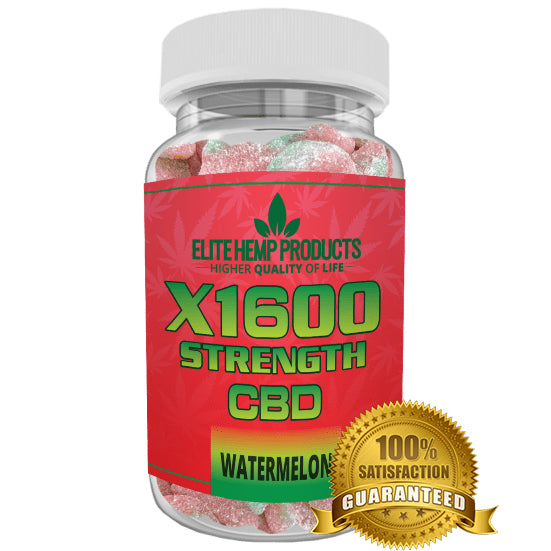 Elite Hemp Gummies – Hemp Infused Watermelon x1600 Strength