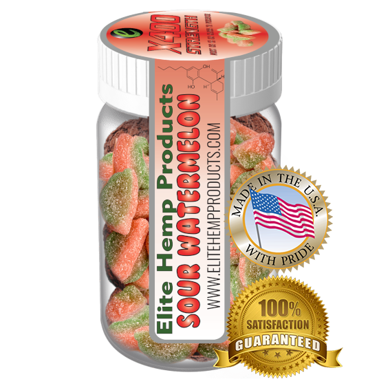 Elite Gummies - Hemp Watermelon Gummy x400 Strength (Classic)