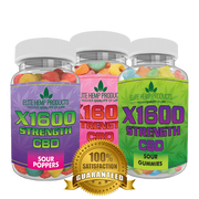 Hemp Sour Gummy 3 Pack X1600 Strength