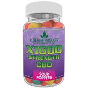 Hemp Supplements Anxiety Calming Sour Gummy - Relieve Stress Anxiety, Inflammation - Improve Mood - Full Plant Extract - 20 MG Per Gummy 6 Pack included