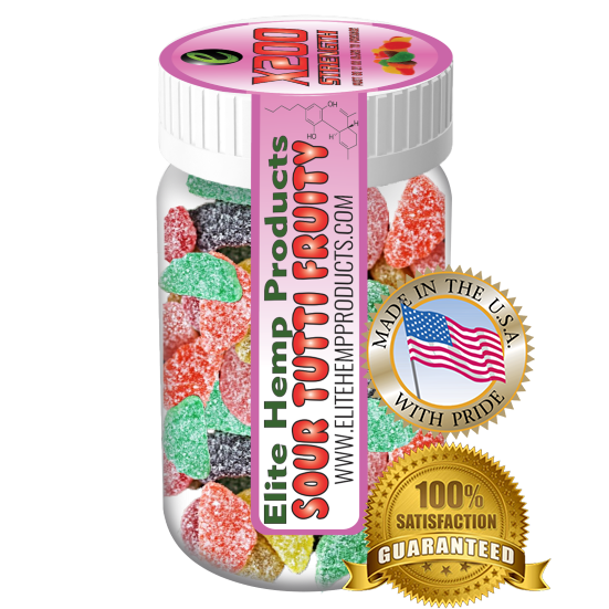 Elite Hemp Gummies - Hemp Infused Gummy Fruits x200 Strength (Classic)