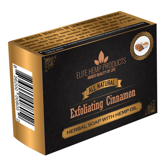 Exfoliating Cinnamon & Hemp Oil Soap