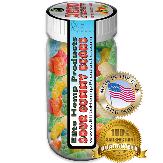 Elite Hemp Gummies - Hemp Infused Gummy Bear x800 Strength (Classic)