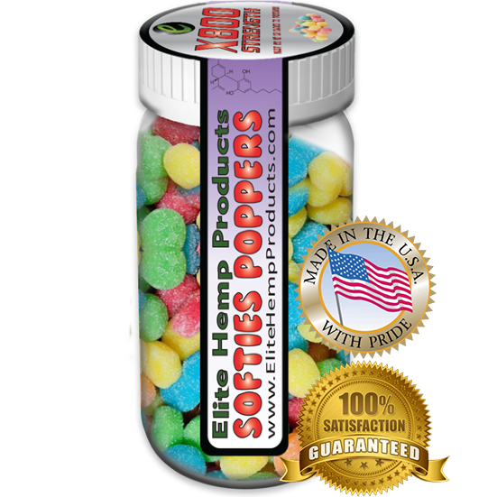Elite Hemp Gummies - Hemp Infused Gummy Poppers x800 Strength (Classic)