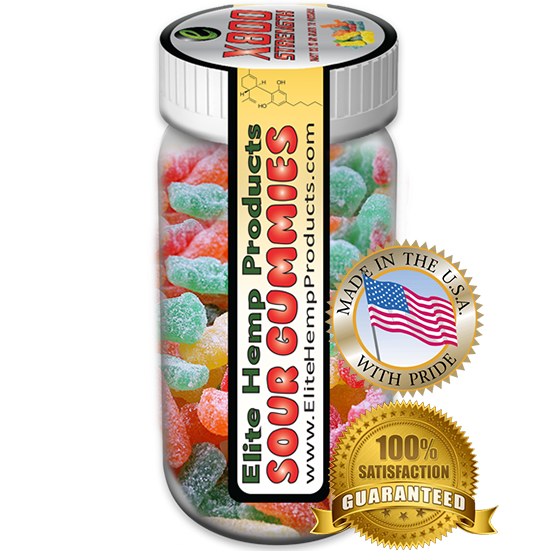 Elite Hemp Gummies - Hemp Infused Sour Gummy x800 Strength (Classic)