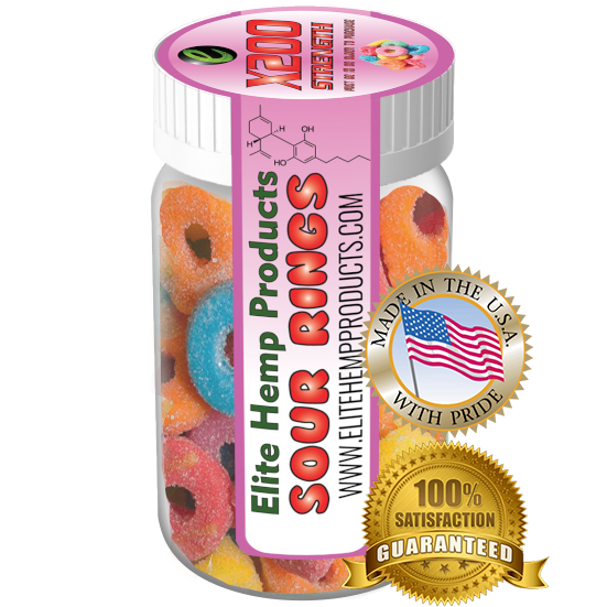 Elite Hemp Gummies - Hemp Infused Sour Rings x200 Strength (Classic)