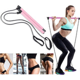 Yoga Exercise Resistance Bands Pilates Stick Fitness Elastic Pull Rope Kit Home Gym Leg Bodybuilding Muscle Training Equipment