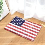 Welcome Home Hallway Door Mats Vintage American Flag Stars Pattern Rugs