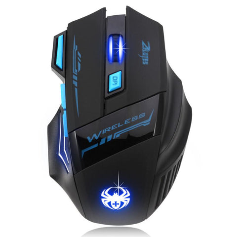 Adjustable 2400 DPI Optical Wireless Gaming Mouse