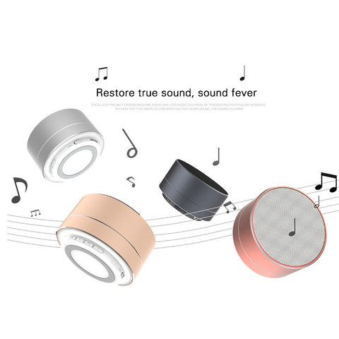 Portable Bluetooth Speaker - LED Colors