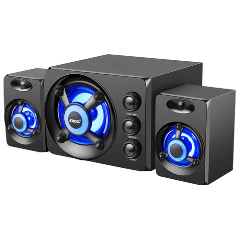 Wired USB Powered Desktop Speakers With Colorful Lights