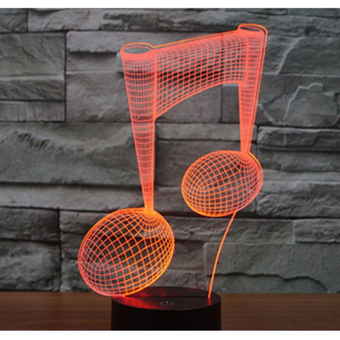 3d LED Music Note - 7 Color Decor