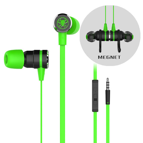 Magnetic Gaming Earphones w/ Microphone