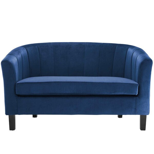 Wilbur Channel Loveseat by House of Hampton