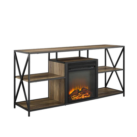 "Neff TV Stand for TVs up to 60"" Electric  with Fireplace by Union Rustic"