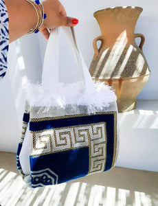 Artemis Greek meander handbag
