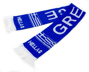 Greece knitted scarf