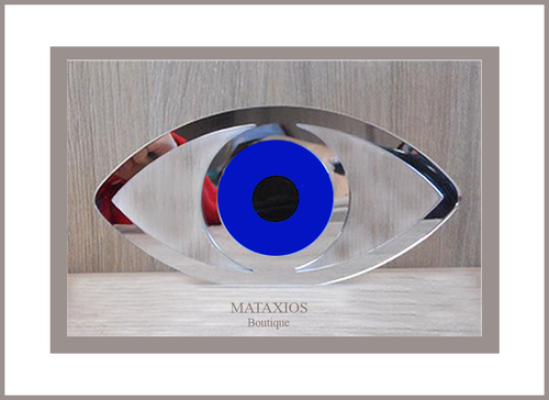 Mirrored plexi glass with blue eye
