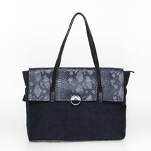 Load image into Gallery viewer, Blue Crocodile tote