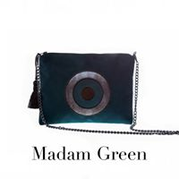 Christina Malle Green stone handbag