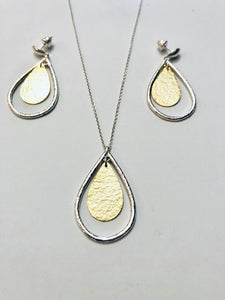 Sterling silver gold plated set