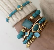 Load image into Gallery viewer, MERMAID BRACELETS STACK 2 WITH STACKABLE RINGS