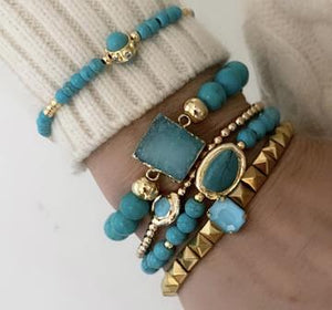 MERMAID BRACELETS STACK 2 WITH STACKABLE RINGS