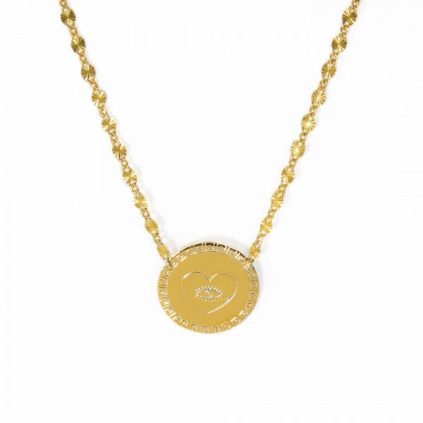 Coin heart necklace