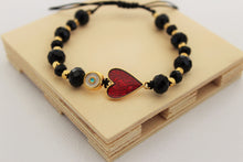 Load image into Gallery viewer, Evil eye heart bracelet
