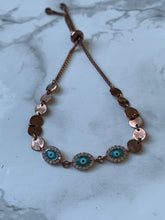 Load image into Gallery viewer, Rose gold with turquoise bracelet