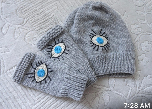 Evil eye hat sets