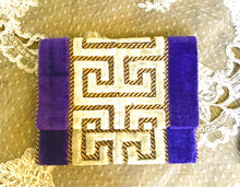 Load image into Gallery viewer, Greek meander coin purse/wallet