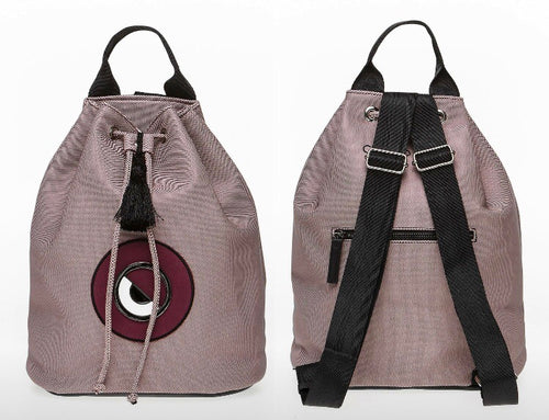 Rose pink evil eye backpack