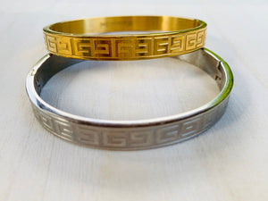 Greek key bangles