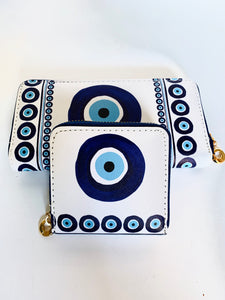 Small Evil eye wallet