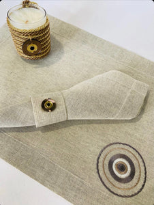 Handmade placemats with napkin and napkin ring