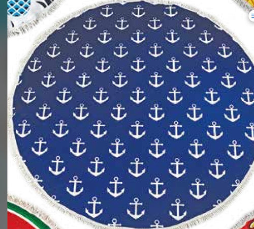Anchor round towel
