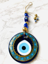 Load image into Gallery viewer, Evil eye glass hanging decor