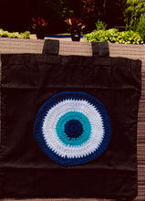 Load image into Gallery viewer, Evil eye tote