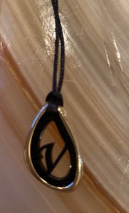 Initial necklace with adjustable cord chain