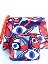 Load image into Gallery viewer, Evil eye clutch with make up Case