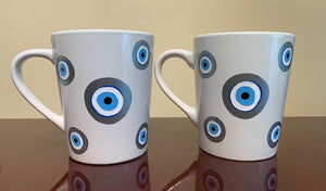 Evil eye handmade coffee mugs