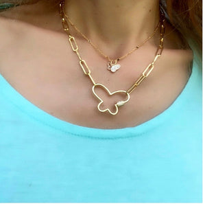Gold stacking necklace