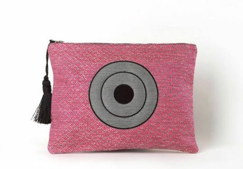Christina Mall pink clutch